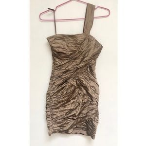 bronze dress • bcbg